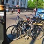 ロンドンの自転車置き場