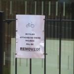 ここに自転車をくくりつけても・・・